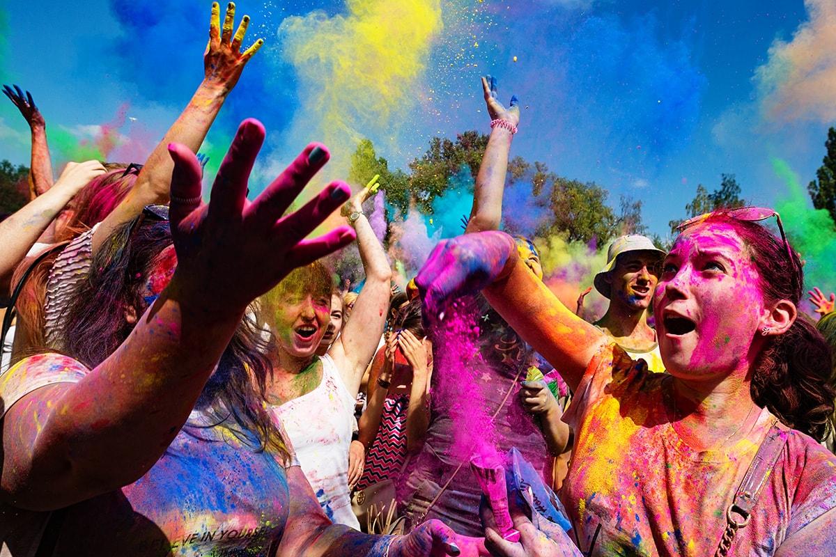 Холи  праздник красок в Индии