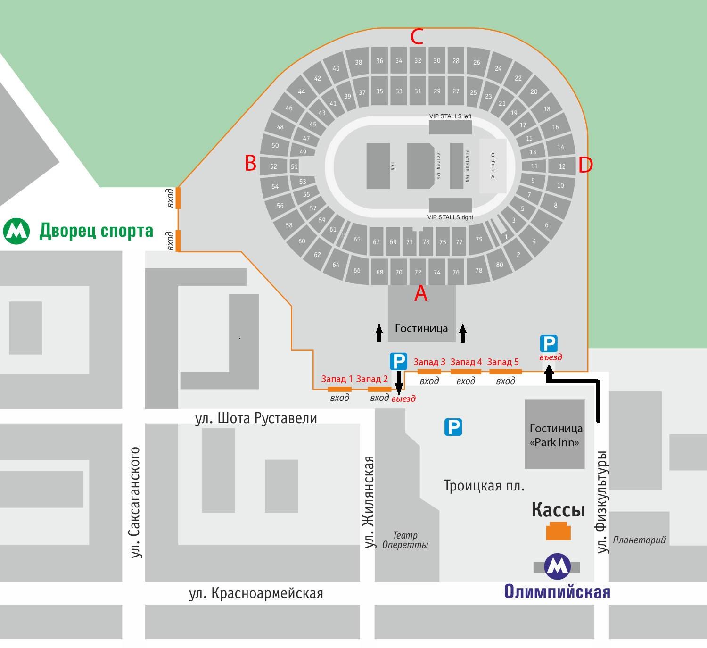 схема стадиона одимпийский в киеве