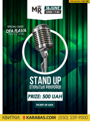 Stand Up. Open microphone