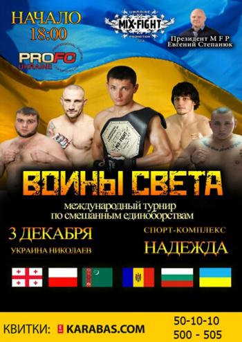 фестиваль Турнир по смешанным единоборствам в Николаеве