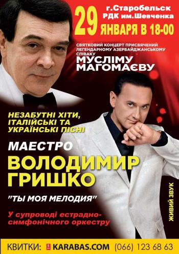 Владимир Гришко в Старобельске, концерт