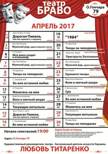 спектакль Мужской род, единственное число, или не верь глазам своим в Киеве