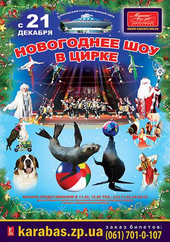 спектакль Новогоднее шоу в цирке в Запорожье