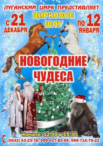 спектакль Цирк «Новогодние ЧУДЕСА» в Луганске