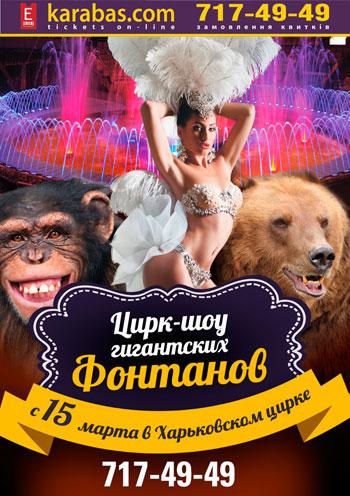 цирковое представление Цирк - Шоу Гигантских фонтанов в Харькове