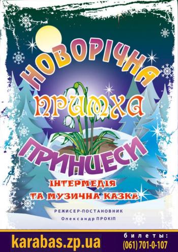 спектакль Новогодняя прихоть принцессы в Запорожье
