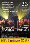 Концерт Все симфонии Брамса в Харькове