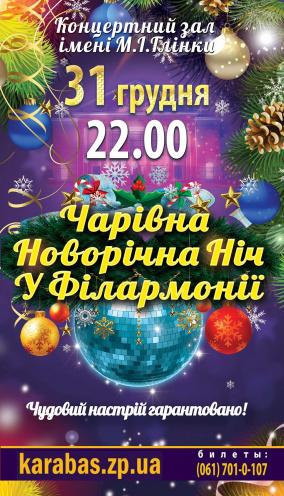 Концерт Новогодняя ночь в Филармонии в Запорожье
