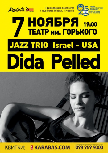 Концерт Dida Pelled Trio в Днепре (в Днепропетровске)