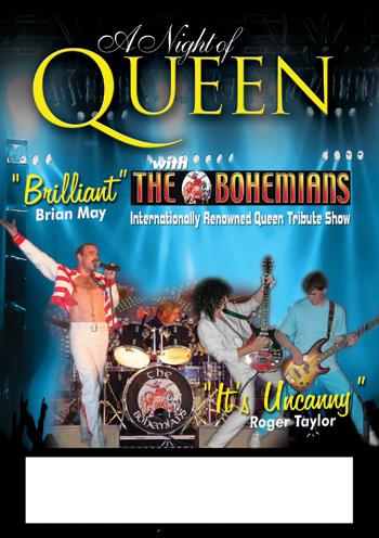 Концерт Официальный трибьют Queen - группа THE Bohemians (Лондон) в Луганске